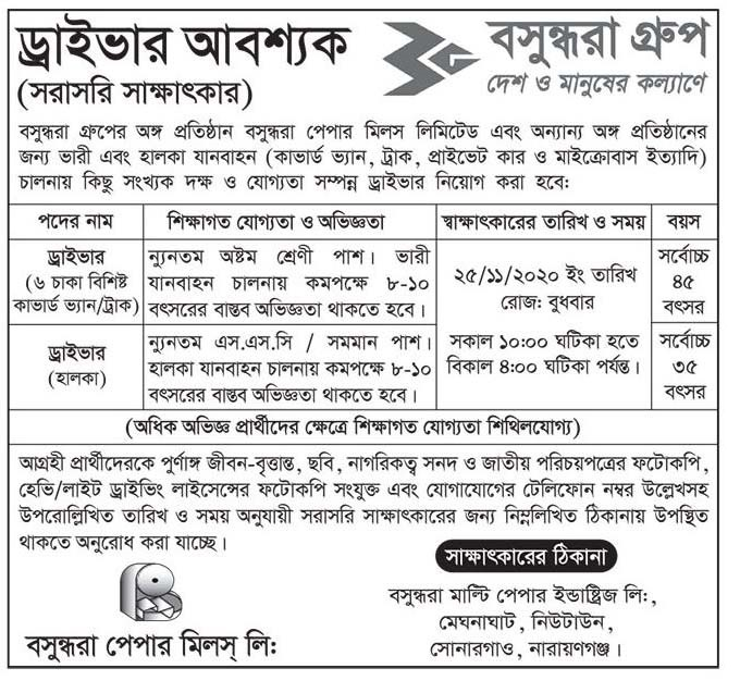Bashundhara Group Job Circular 2